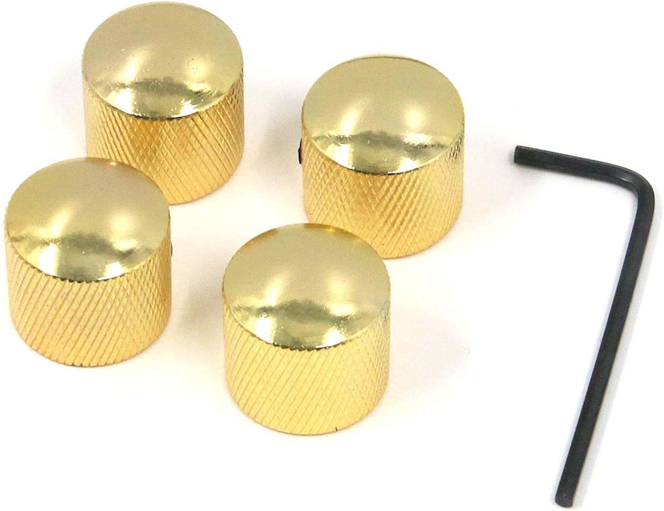 Details about  /Gold Aluminum Sound Control Rotary Switch Knob 6mm Potentiometer Volume Cap