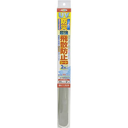 アサヒペン ガラス飛散防止用品 クリア 幅46cm×長さ2m BH-1