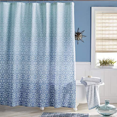 Bedeck 1951 Daya Shower Curtain, 72W x 72L, Blue