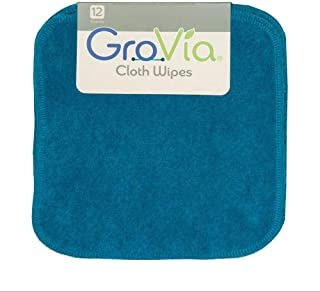 GroVia Reusable Cloth Diapering Wipes, 12 Count, Abalone