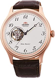 Orient Mens Automatic Watch, Analog Display and Leather Strap RA-AG0012S10B