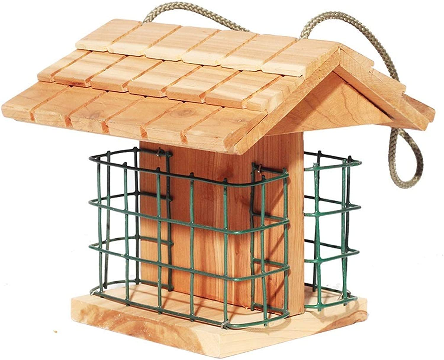 Feeder Bird Buffet, Garden Feeding Station With Wooden Bread And Fruit