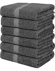 katoenen Handdoeken, 60 x 120 cm Handdoeken voor zwembad, spa en fitnessruimte Lichtgewicht en zeer absorberende Quick Drogen Handdoeken, (Pack van 6)