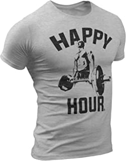 Happy Hour Crossfit Workout Weightlifting Sports Tshirts Ideal for Gym, Crossfit