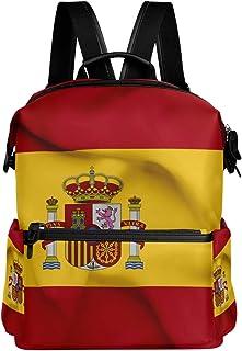 Mochila Oarencol con bandera de España ondeando la bandera de España para el colegio, para viajes, senderismo, acampada, portátil