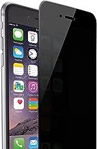 Skylarking iPhone 6 6S Privacy Anti-Spy Tempered Glass Full Screen Protector Ballistics 0.3mm 9H Hardness Anti shatter Anti Scratch Fingerprint, Bubble Free Black as Mirror (iPhone 6 6s)