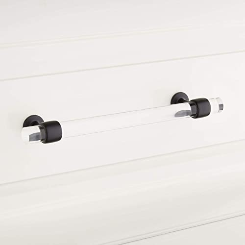 "lowest Signature Hardware 949193-6 6"" wholesale Beryn Acrylic Cabinet wholesale Pull sale"
