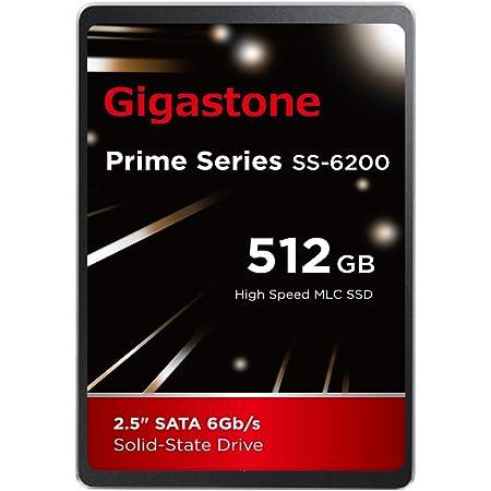 "Gigastone 512GB 内蔵 2.5インチ SSD 3D NAND搭載 SATA III 6Gb/s 2.5 inch 7mm (0.28"") 最大読み込み速度 550MB/s 3年保証"