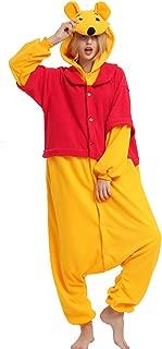 Winnie Onesie Adult. Winnie Costume Kigurumi Pajama for Women Men and Teens.