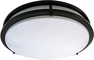 LB72125 LED Flush Mount Ceiling Light, 16-Inch, Oil Rubbed Bronze, 23W (180W Equivalent) 1610 Lumens 4000K Cool White, ETL & Energy Star Listed, Dimmable