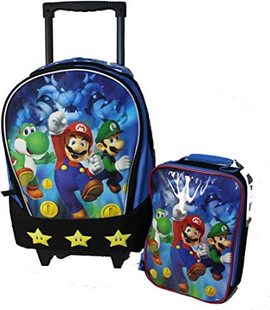 New Mario Brother Rolling Backpack