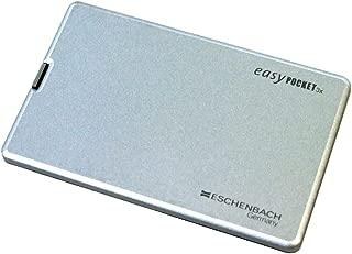ESCHENBACH 携帯用ルーペ イージーポケット 倍率3倍 LEDライト付き シルバー 1521-11