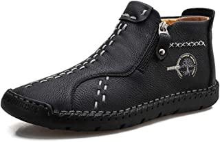 Men's Boots Hand Stitching Slip on Casual Shoes Loafers Fashionable Leather Ankle Chukka Boots for Men