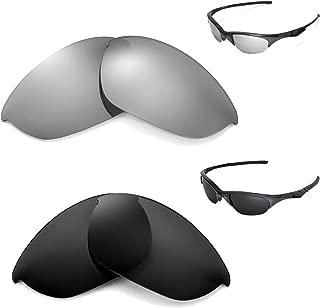 New Walleva Polarized Black + Titanium Lenses For Oakley Half Jacket