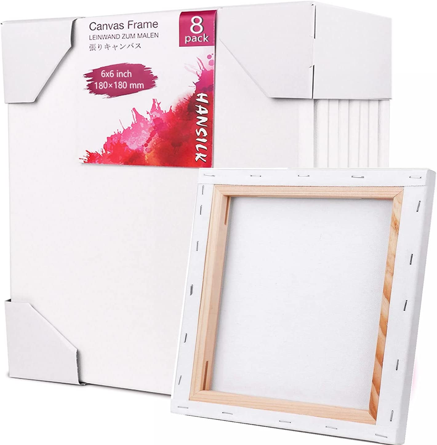 Reservation Painting Canvas trend rank Panels-8 Pack 6x6 Art inch-Academy Blank Supply
