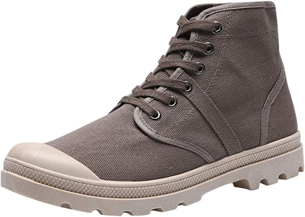 sweetnice man clothing Men's Lace Los Angeles Mall Up Fashion Boots Hiking High order Casual
