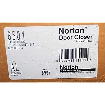 Dark Bronze Finish Norton Door Controls 8501H x 690 8300 Series Door Closer Adjustable Size 1-6 Full Cover Tri Styled Pack Cast Aluminum Body