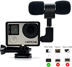 Microphone Adapter, ZIKO Microphone 3.5 mm Mic Adapter Mini Stereo 3.5 mm mic Adapter Microphone Mount With Standard Frame for GoPro 3/3+/4 Sports Camera