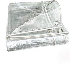 EMYU Duidelijke Tarps Regenbestendig,Waterdicht Geteerd zeildoek met oogjes|Anti-Uv Weerbestendig Vinyl Coated Pvc Tarp