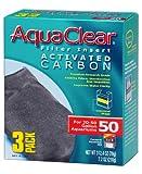 AquaClear 50 Activated Carbon Inserts, Aquarium Filter Replacement Media, 3-Pack, A1384