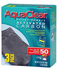 Adsorbs odors, discoloration and impurities Designed to fit the Aqua Clear 50 filter Suitable for aquariums between 20 to 50 gallons 3-pack; Economical way to purchase inserts