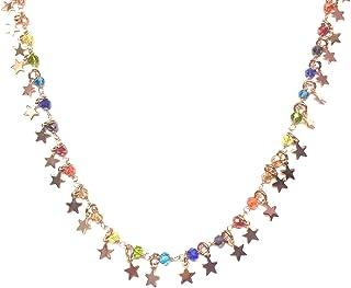 Collana per Donna Stelle In Argento 925 E Pietre Colorate - Linea Italia gioielli Made in Italy