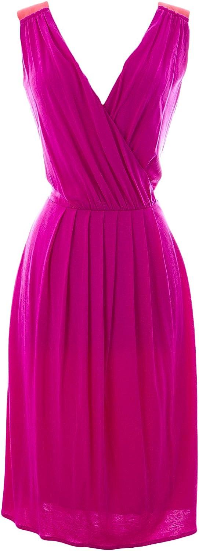 BODEN Women's Sleeveless Sheath Dress US Sz 10R Magenta orange