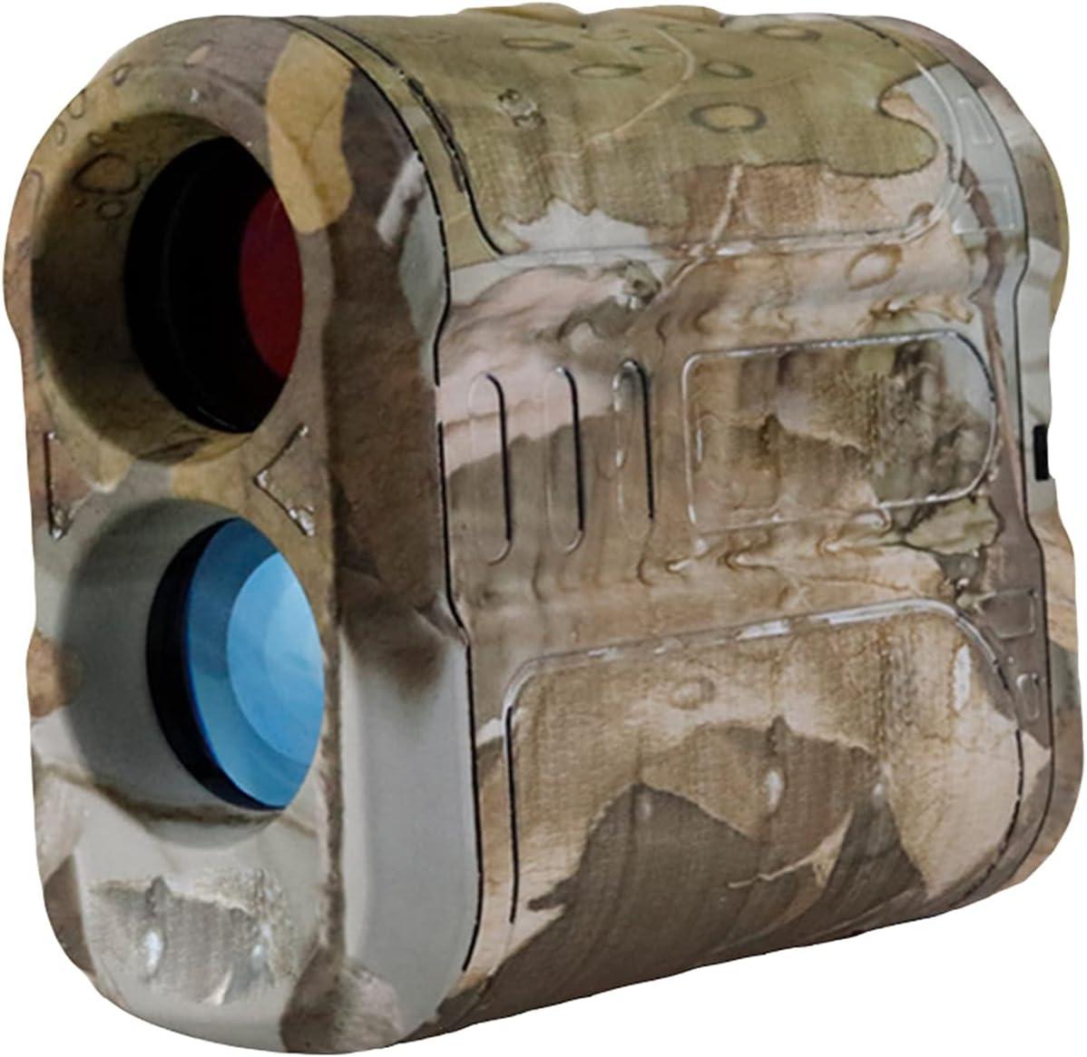 Telémetro de Golf, cámara de Vida Silvestre, Bloqueo rápido de asta de Bandera, precisión de 1 Yarda, Aumento de 6X, medición de Distancia/ángulo/Velocidad para Golf, Caza, 1500 m