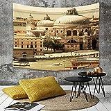 Yaoni Tapestry Pared paño Mantel Toalla de Playa,Venecia, la basílica de la Arquitectura Italiana...