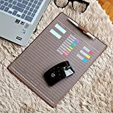 ELSKY Office Mouse Mat for Computer or Laptop,Gmaing Mouse Pads/Mouse&Desktop Protector/Keyboard Pad,Drawing & Writing Pad with Card Schedule Pockets,Cover with 2 Transparent Sheets for Mamo (Coffee)