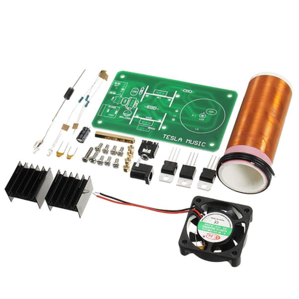 Yongse DIY Mini Music Kit de Bobina de Tesla Altavoz de Campo JX03 ...