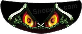 SkullSkins Ace Spades Snake Universal Full Face Motorcycle Helmet Windscreen Graphic Visor Tint Shield Sticker Decal
