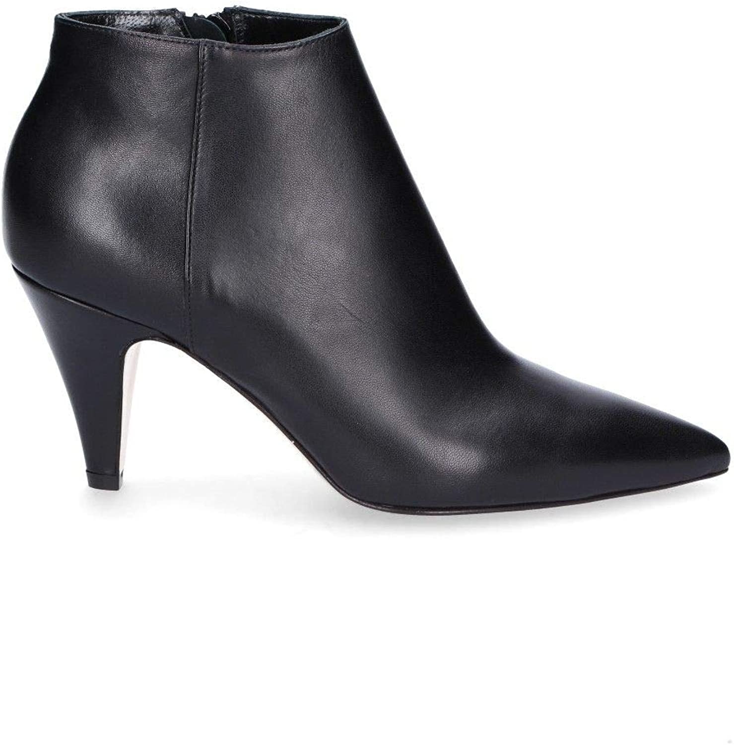 GIAMPAOLO VIOZZI Women's EF601P Black Leather Ankle Boots