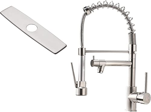 new arrival AIMADI lowest Brushed Nickel Kitchen Faucet with Pull Down sale Sprayer online sale