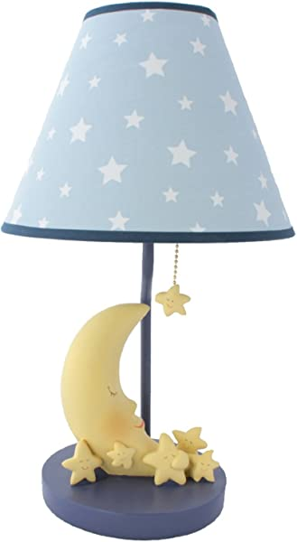 Sleepy Moon And Stars Table Lamp With Matching Night Light Fantastic Hand Painted Details