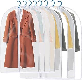 Housses de Vêtements, GEEDIAR Lot de 8 Lavable Transparent Etanche Anti-Poussière Housses de Protection Pour Chemise/ Cost...