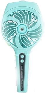 SHANGRUIYUAN-Mini Fan Collapsable Portable Misting Fan Mini USB Handheld Humidifier Mist Water Spray Air Chilling Moisturizing Fan (Color : Blue)