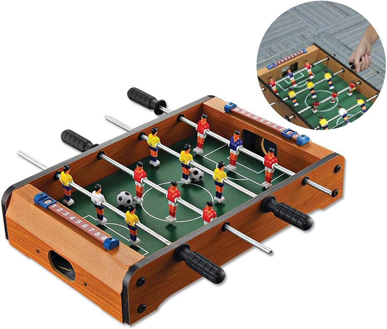 Mini Table Football,Foosball Table Soccer Table Arcade Game Room Football Table Sports Game for Kids, Adults,Mini Tabletop Foosball Table 34.521.58cm