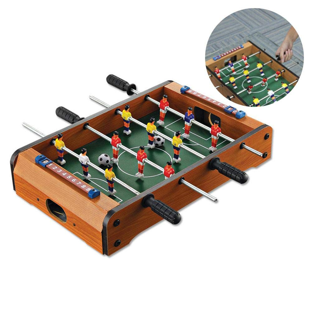 Mini mesa de futbolín de madera para interiores, juegos de fútbol y accesorios, para adultos y niños, mesa de fútbol portátil para salas de juegos, bares, arcadas, reunión familiar: Amazon.es: Bricolaje y