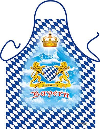 Grill-Schürze Freistaat Bayern mit Herz Fun Koch-Schürze Küchen-Schürze geil Bedruckt Geschenk-Set mit Grillermeister Urkunde
