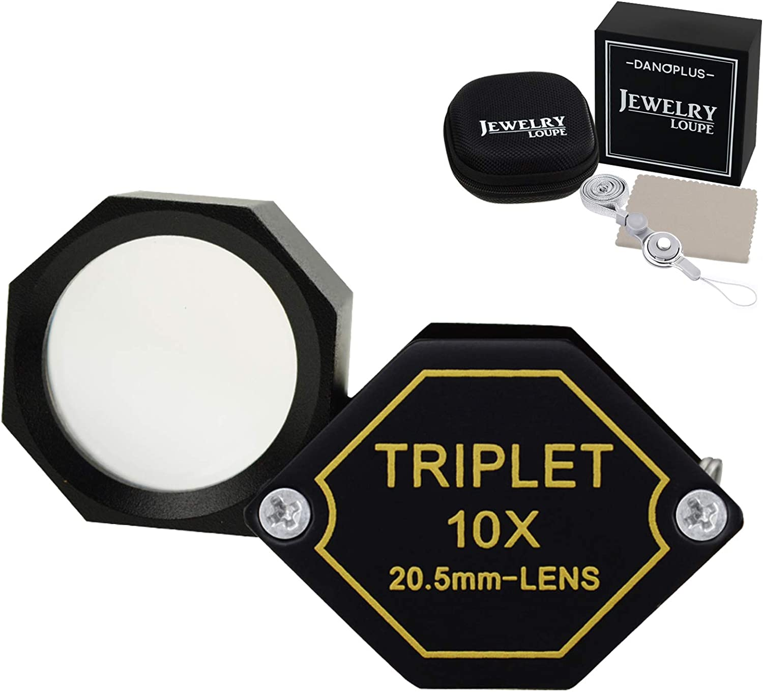 10x Magnifier Jewelry Loupe 20.5mm Glass Denver Mall Po Ranking TOP17 Triplet Optical Lens