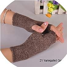 Sales Genuine Fine Sheep Wool Mitt Exposed Finger Women's Gloves Winter Autumn Knitted For Women Fingerless