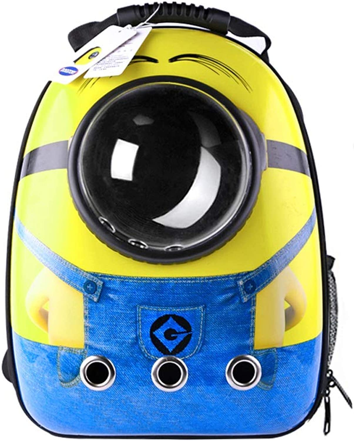 Pet backpack Pet backpack pet cage Out Portable cat Backpack Space Capsule pet Bag (color   A)