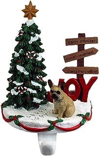 DogLoverStore French Bulldog Stocking Holder Hanger Cream