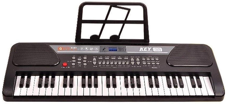 HXGL-Tastatur Kinder Anfnger Tastatur 3-6 Jahre alt Musik Training Geburtstagsgeschenk Spielzeug Instrument Eintritt Klavier mit Mikrofon (Farbe   schwarz, Größe   Basic Version)