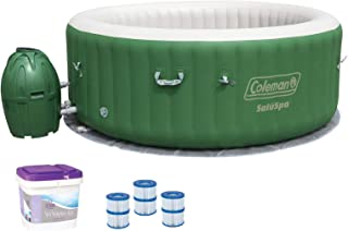Coleman SaluSpa 6 Person Inflatable Spa with Filters Cartridges and Support Kit