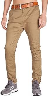 I.TALYMORN Men's Chino Business Flat Front Casual Pants (32W x 32L, Dark Khaki)