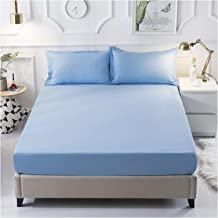 Bed Cover with Adjustable Buckle Polyester Fitted Mattress Pad Non Slip Waterproof Breathable Shrinkage Resistant Dust Pro...