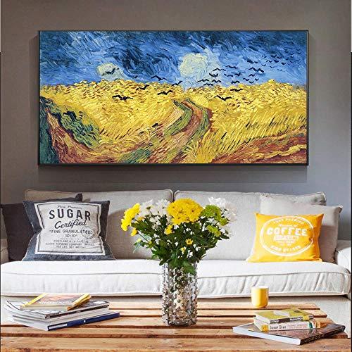 YFYW Arte en Lienzo Pinturas Reproducciones Van Gogh Famosos Cuadros en la Pared Cuadros Decoración para el hogar-60x120cmx1 Piezas sin Marco
