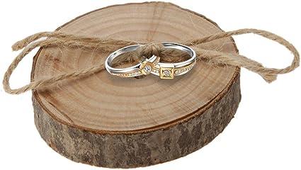 Il Suo Anello In Legno Rustico Porta Fedi Porta Anelli Per Sempre Le Sue Cuscino ad anello